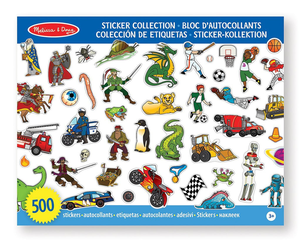 Melissa & Doug - Sticker Collection Book: Dinosaurs, Vehicles, Space, and More - 500+ Stickers [Home Decor]- Olde Church Emporium