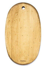 J.K. Adams 14-Inch-by-18-1/2-Inch Maple Wood Artisan Cutting Board, Oval-Shaped Made in USA