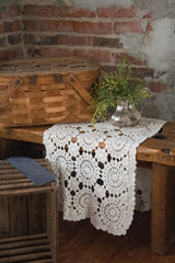 Heritage Lace - Blue Ribbon Crochet Collection - Curtains and Table Linens - Olde Church Emporium