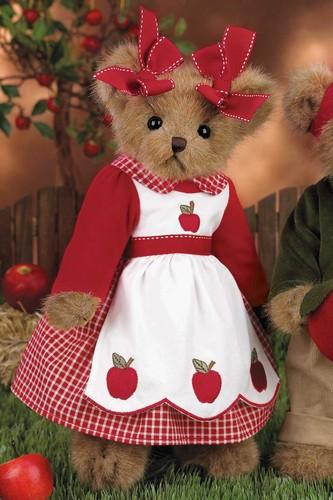 "Bearington-   ""Caramela Apple"" Plush Bear 14 Inches and Retired - Olde Church Emporium"