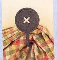 Park Designs - Curtain Hooks - Black Button / Red Button Pair
