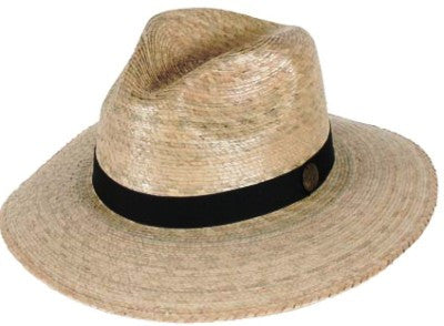 Tula Straw Hat - Explorer with Black Band and Stretch Sweatband - Unisex - 2 Sizes