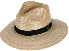 Tula Straw Hat - Explorer with Black Band and Stretch Sweatband - Unisex - 2 Sizes - Olde Church Emporium