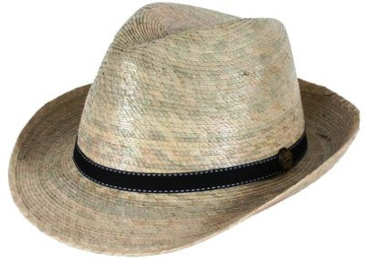 Fedora with Black Band - Unisex - 3 Sizes