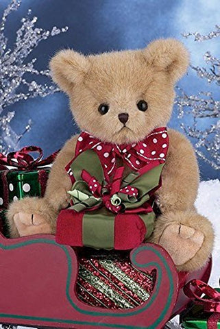 "Bearington - Christmas Holiday Bear ""Gavin Gifts"" - 10 Inches"