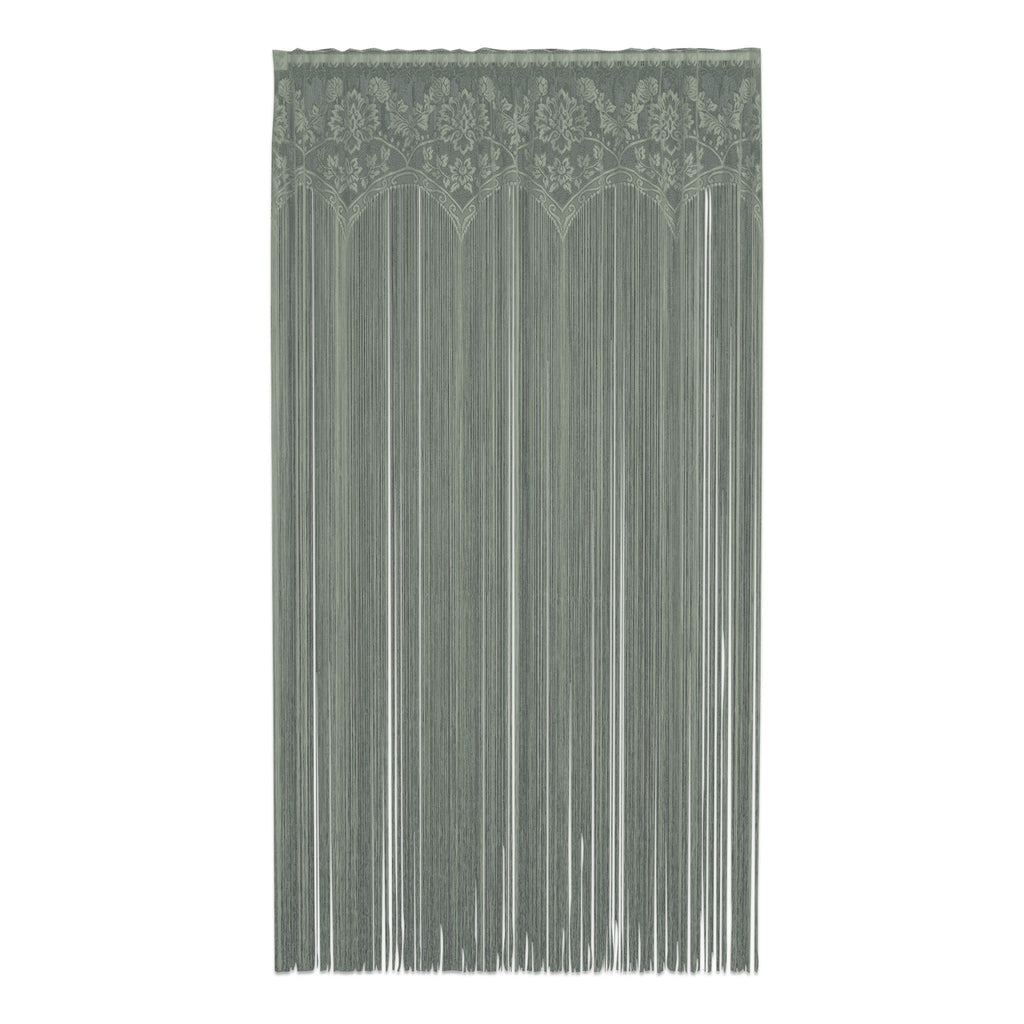 Heritage Lace Gala 60-Inch Wide by 84-Inch Drop Fringe Panel, Silver Sage - Olde Church Emporium