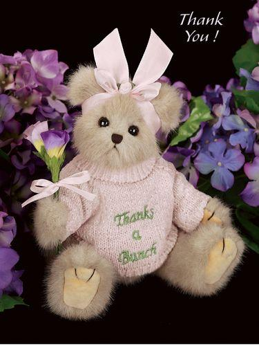 Bearington Bear Gracie Grateful Thanks-A-Bunch Plush 10 inch BearToy Collectible Retired