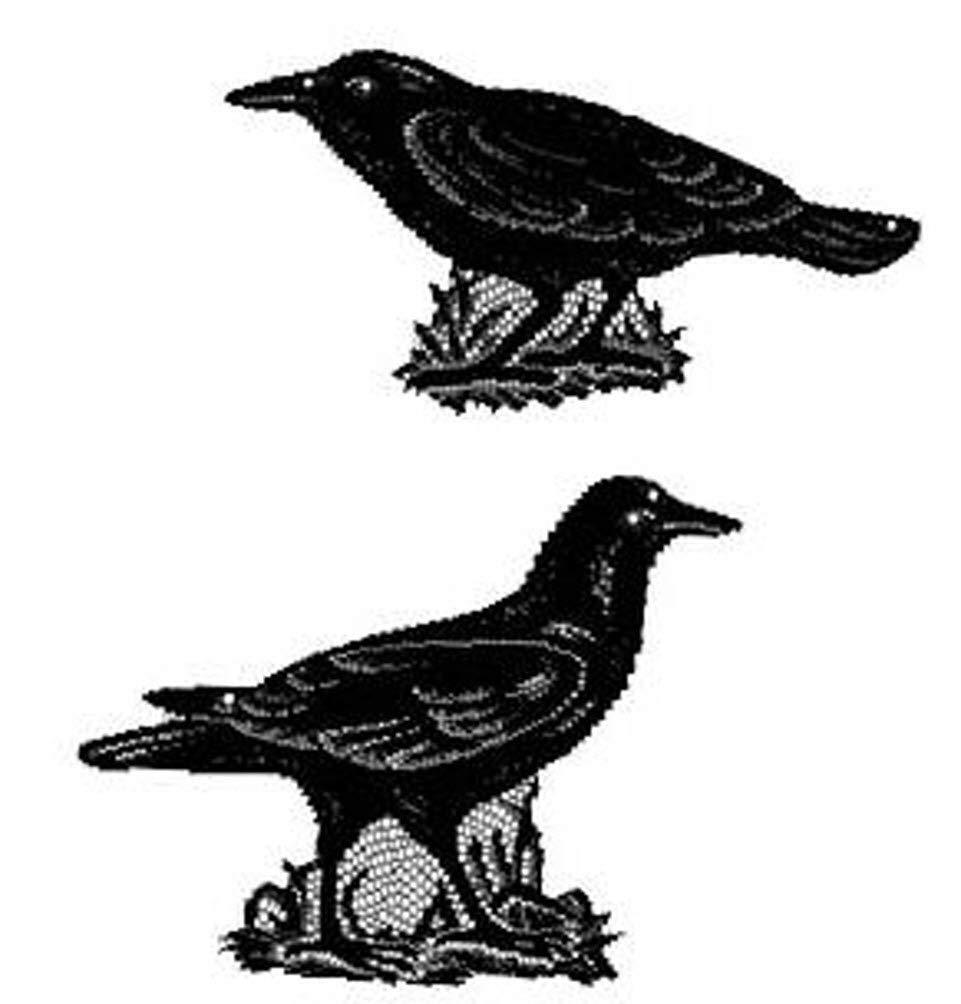 Heritage Lace Halloween 2 Ravens Crows Decorative Window Accents Made in USA