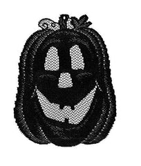 "Heritage Lace Jack O'Lantern Accents (Set of 3), 7"" by 8""/8"" by 6""/8"" by 9"", Black Made in USA"