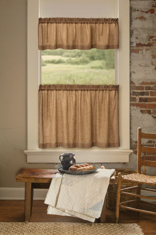 Heritage Lace - Homespun Collection - Curtains and Tabletop textiles in Natural Color