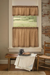 Heritage Lace - Homespun Collection - Curtains and Tabletop textiles in Natural Color - Olde Church Emporium