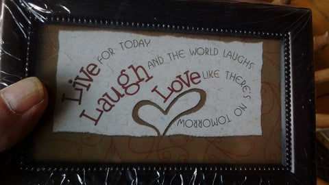 "Music Box ""Live Laugh Love"" Plays  Beethoven Fur Elise Free Shipping"