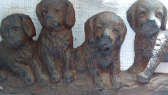 Cast Iron  - Cast Iron Key Rack - Puppies - Olde Church Emporium