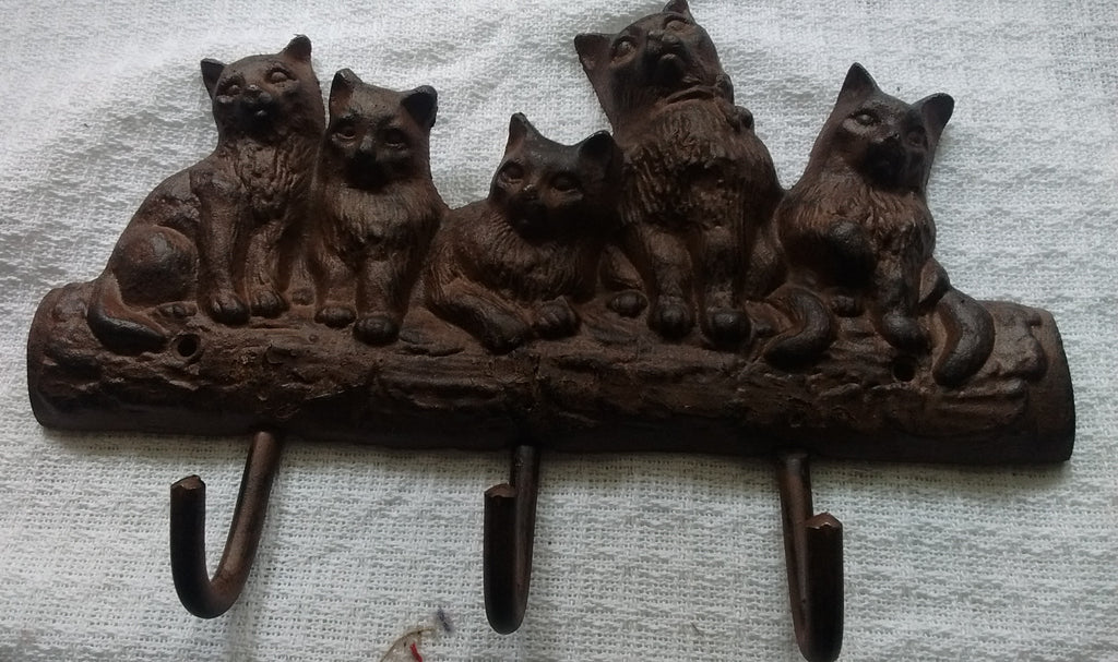 Cast Iron  - Cast Iron Key Rack - Cats - Olde Church Emporium
