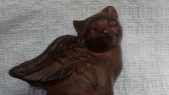 Cast Iron  -  Cast Iron Small Scottie Dog/Cat with Wings- 2 Styles - Olde Church Emporium