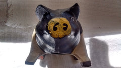 Cast Iron  -  Black & White Piggy Bank - Olde Church Emporium