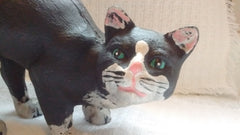 Kitty Cat Door Stop - Solid 3 Dimensional Cast Iron Cat