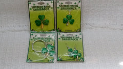 Shimmering Shamrock Novelties - Pin, Pendant, Earrings, Keychain - Olde Church Emporium