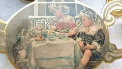 Victorian Children and their Pets Mini Pretend Play Tea Set with 14 Pieces - Olde Church Emporium