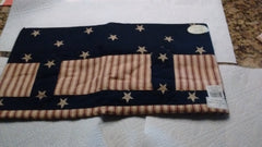 "Park Designs Valance - Tab Cut Out -Stars and Stripes 60"" x 15"