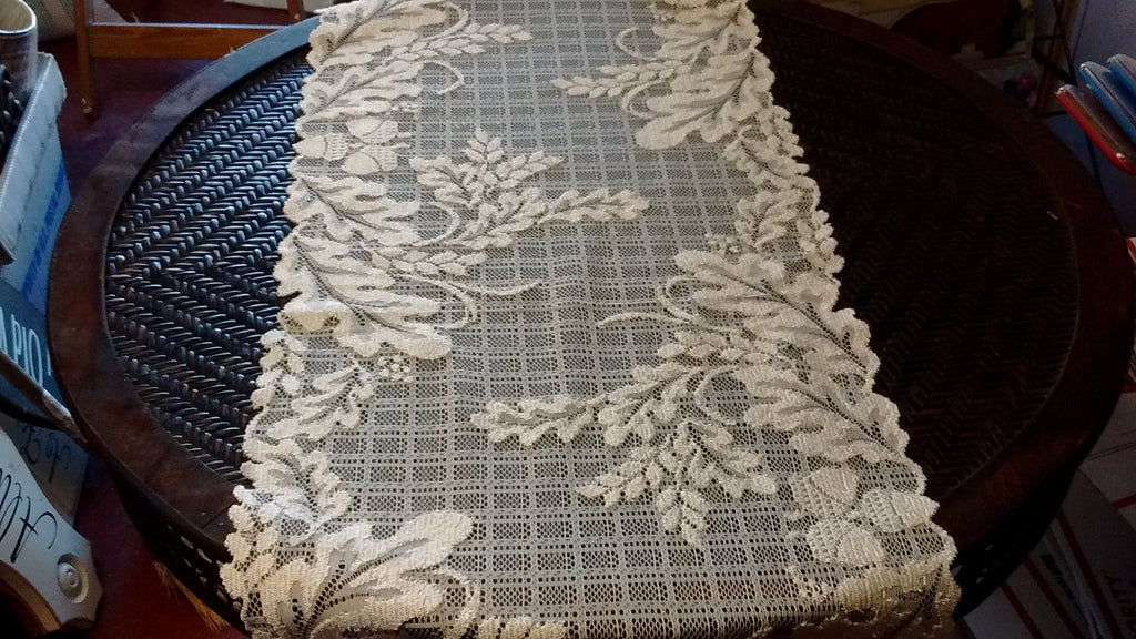 Heritage Lace Wildwood Collection, Placemats, Doilies and Runners White and Ecru Made in USA