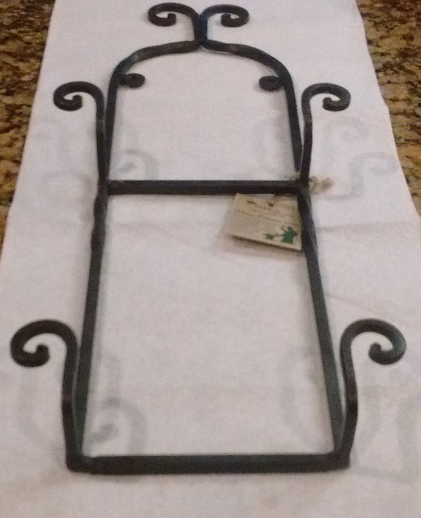 Park Designs - Scroll Double Plate Rack Hand Forged Iron - Olde Church Emporium