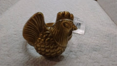 Park Designs - French Hen Antique Brass Napkin Rings - Olde Church Emporium