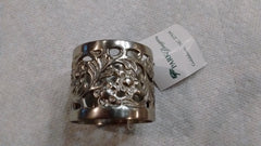 "Park Designs ""Rose Filigree Napkin Ring Pewter"" Kitchen Dining Napkin Rings"