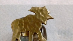 Park Designs - Moose Shaped Metal and Brass Napkin Rings 2 styles