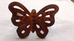 "Park Designs ""Butterfly Metal Napkin Rings"" Kitchen Dining Napkin Rings 2 Colors Silver Burl"