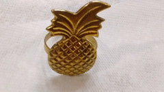 Park Designs Pineapple Antique Brass Napkin Rings Kitchen Dining Napkin Rings