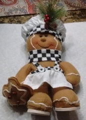 Gingerbread Man - Novelty decorative item. 2 styles