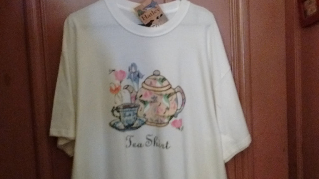 Hatley Tea Shirt T Shirt  3 Sizes Small, Large, XLarge White color Unisex