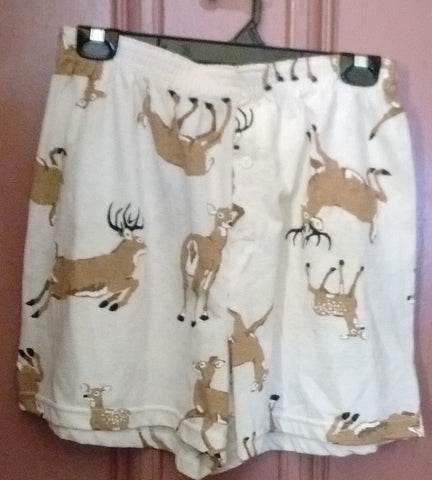 Deer Briefs/Shorts Large, Cream Color