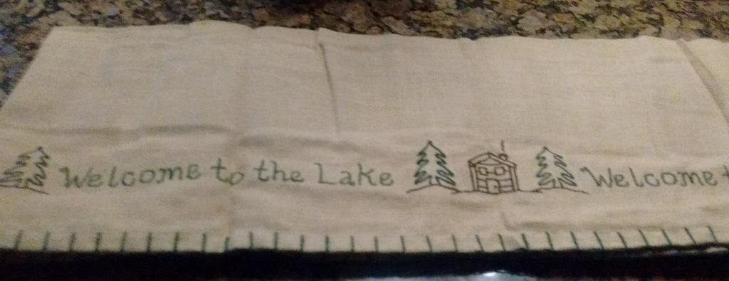 Park Designs - Welcome to the Lake Appliqued Lined Valances 60 x 14 Inches