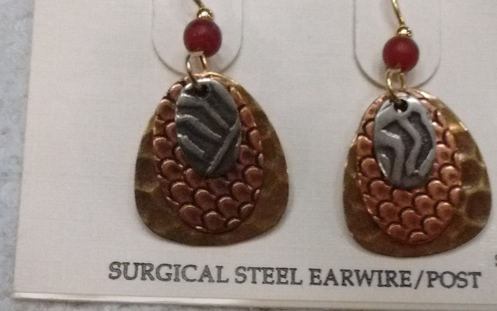 Silver Forest Hand Crafted Earrings Made in USA  Item E-9734 - Olde Church Emporium