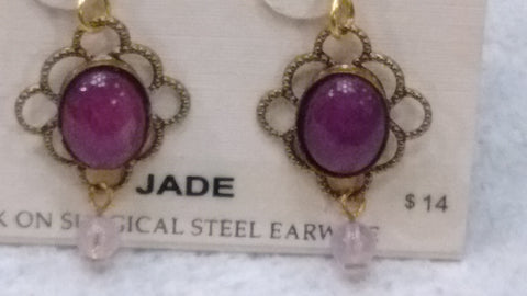 Silver Forest Hand Crafted Earrings Made in USA - Jade Earrings