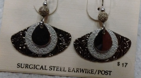 Silver Forest Hand Crafted Earrings Made in USA Item NE-0498