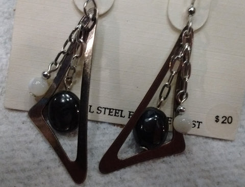 Silver Forest Hand Crafted Earrings Made in USA Item NE-0539