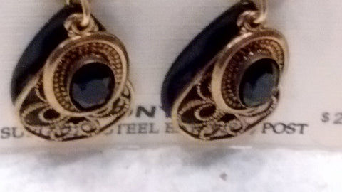 Silver Forest Hand Crafted Earrings Made in USA - Onyx