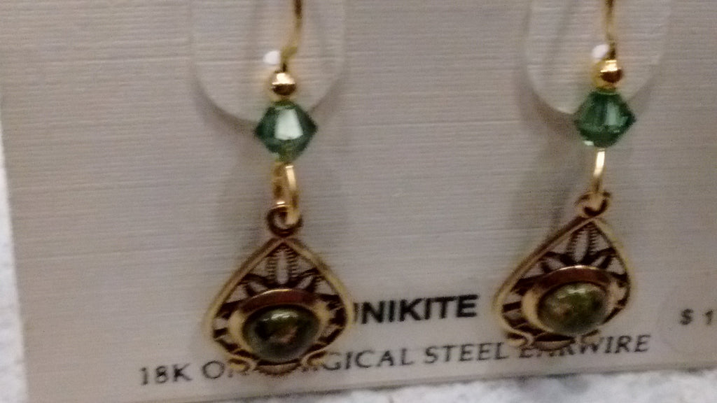 Silver Forest Hand Crafted Earrings Made in USA - Unikite - Olde Church Emporium