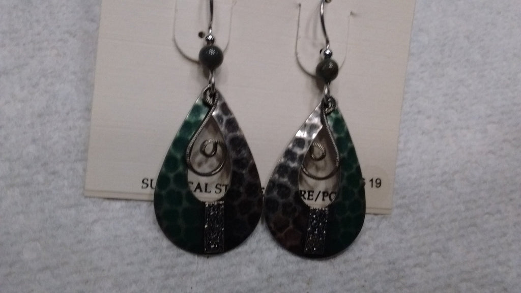 Silver Forest Hand Crafted Earrings Made in USA - Item NE0163A