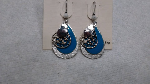 Silver Forest Hand Crafted Earrings Made in USA - Item E8061T