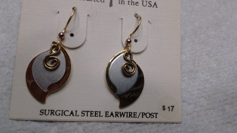 Silver Forest Hand Crafted Earrings Made in USA - Item E 9965