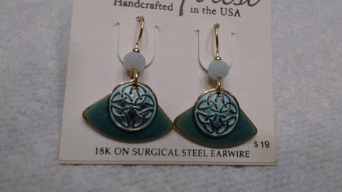 Silver Forest Hand Crafted Earrings Made in USA - Item NE 0658