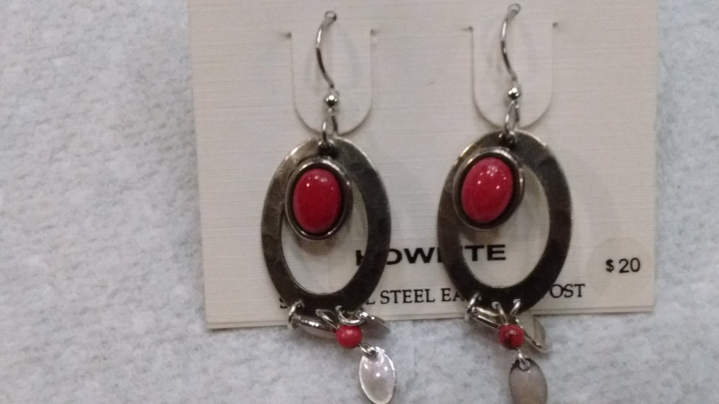 Silver Forest Hand Crafted Earrings Made in USA - Howlite