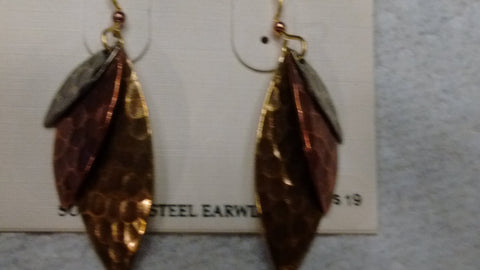 Silver Forest Hand Crafted Earrings Made in USA - Item NE0171