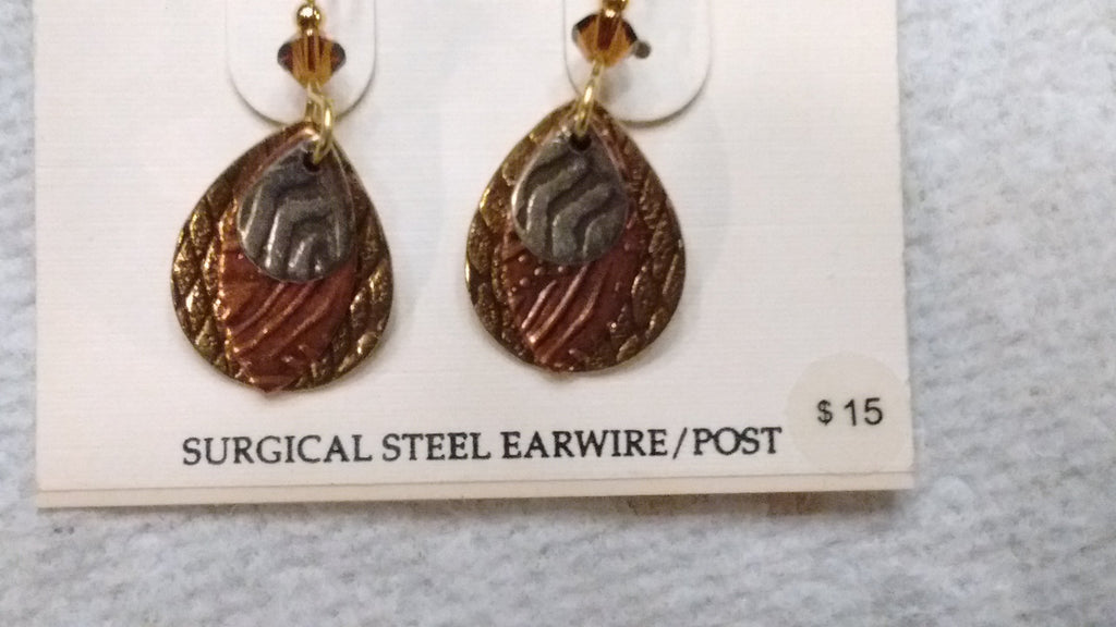 Silver Forest Hand Crafted Earrings Made in USA - Item E5580 - Olde Church Emporium