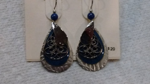 Silver Forest Hand Crafted Earrings Made in USA - Item E8061C