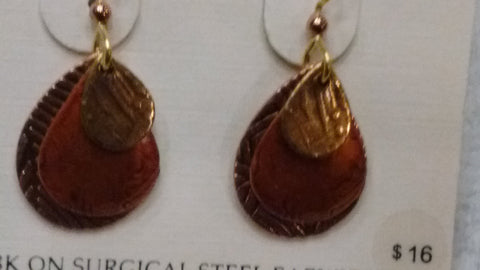 Silver Forest Hand Crafted Earrings Made in USA -Item E7847